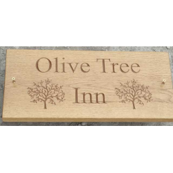 Business Signs & Logo's Engraved In Oak