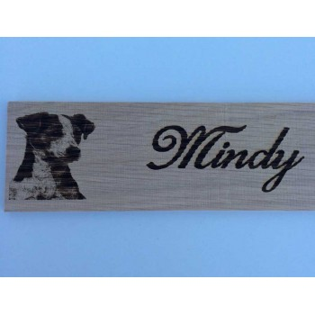 Personalised Jack Russell Name Sign - Plaque