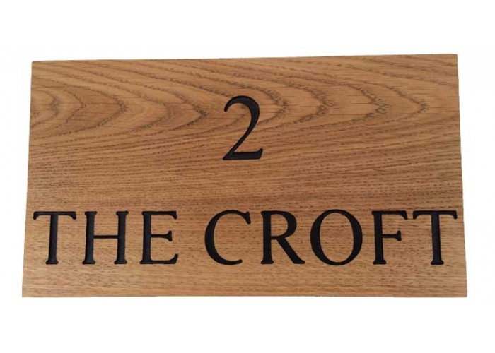 Engraved Oak House Signs