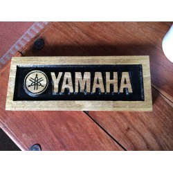Engraved Yamaha Motorcycle Logo for the Garage