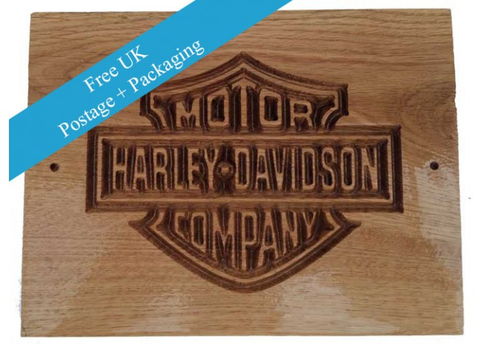 Deeply Engraved Harley Davidson Motorcycle Company Plaque