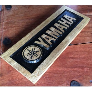 Engraved Yamaha Motorcycle Logo for the Garage