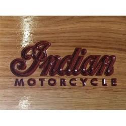 Engraved Indian Motorcycle Logo in Oak