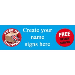 Custom Name signs Engraved on Oak