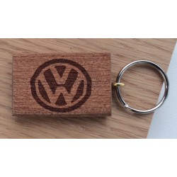 Custom VW T4 Keyring in Oak