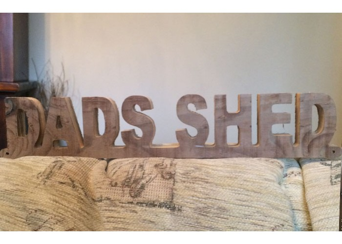 Large Dads Shed Sign Wooden Sign High Quality