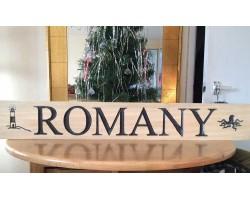 Bespoke Wooden Boat Name Sign Engraved