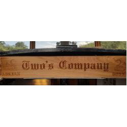 Custom Engraved Oak Sign 900mm x 150mm