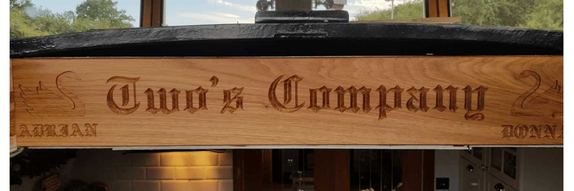 Engraved Boat Name Sign
