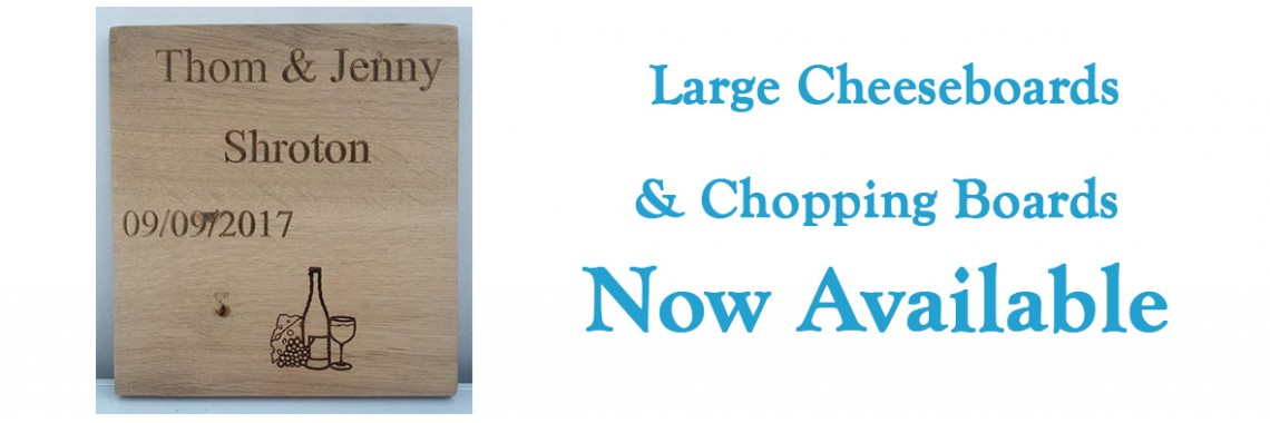 New Oak Personalised Cheeseboard and Chopping Boards