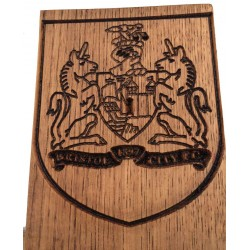 Bristol City Football Club Logo Engraved In Oak