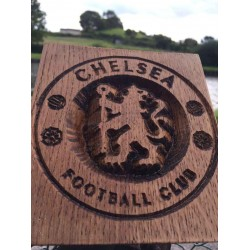 Chelsea Football Club Logo Engraved In Oak