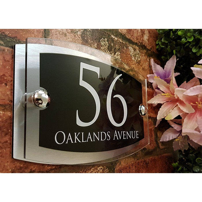 c588f80fc008 Modern Personalised House Signs Plaques with Door Numbers
