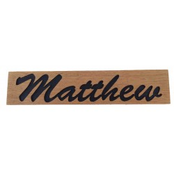 Oak Name Signs for Matthew
