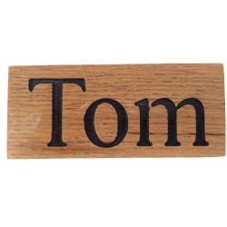 Oak Name Signs for Tom