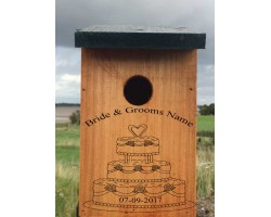 Wedding Gift A Personalised Bird Box