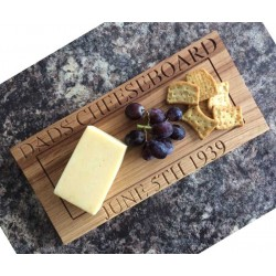 Personalised Engraved Oak Cheeseboard