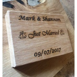 Personalised Wedding Cheeseboard In Oak