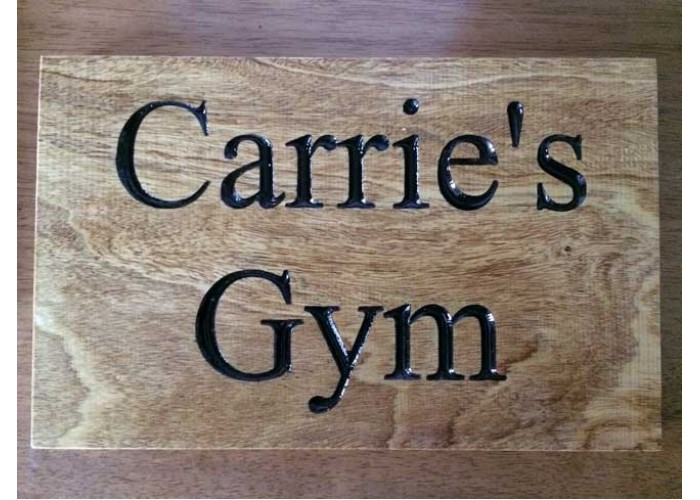 Gym signs - Engraved & Personalised
