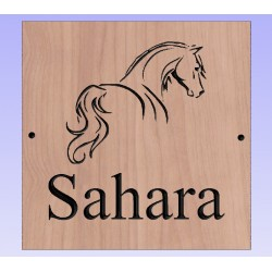 Outlined Custom Stable Door Horse Signs