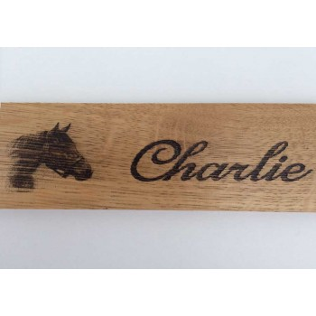 Personalised Horse Sign - Oak Stable Door Sign - Horse Name Plate - Horse Name Plaque