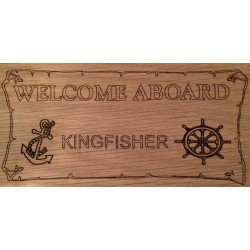 Personalised Wooden Welcome Aboard Boat Sign